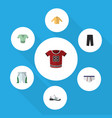 flat clothes set of underclothes pants sneakers vector image vector image