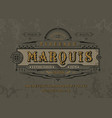 font marquise pop vintage art letters numbers vector image vector image