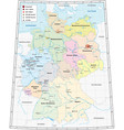 germany administrative map in german language vector image vector image