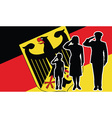 Germany soldier family salute vector image vector image