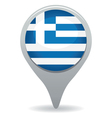 greece flag pointer vector image