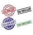 grunge textured zika virus alert stamp seals vector image vector image