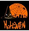 helloween poster hat vector image vector image