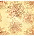 Henna colors ethnic style seamless pattern vector image vector image