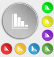 Infographic icon sign Symbol on eight flat buttons vector image