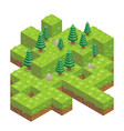 isometric forest vector image