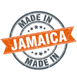 Jamaica orange grunge ribbon stamp on white vector image vector image