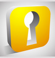 keyhole icon for privacy access security concepts vector image