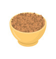 lentils in wooden bowl isolated groats in wood vector image