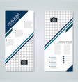 modern roll-up business banners template vector image vector image