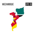mozambique map border with flag eps10 vector image