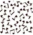 music note heart vector image vector image