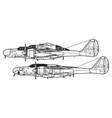 northrop p-61 black widow f-15 reporter vector image vector image