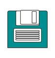 obsolete diskette design vector image vector image