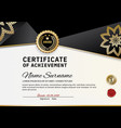 official certificate of appreciation award vector image