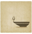 oil lamp old background vector image