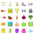 physical examination icons set cartoon style vector image vector image