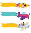 Planes With Banners Set vector image