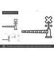 railroad barrier line icon vector image