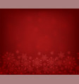 red background with snowflakes vector image vector image