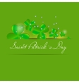 Saint Patricks day background vector image