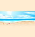 seaside beach azure waves sand coast vector image vector image