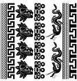 set ancient american ornaments vector image