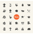 Set of farm agriculture flat design icons and vector image