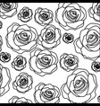 silhouette pattern bud roses floral design vector image