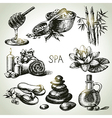 Spa sketch icon set vector image vector image