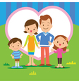 sweet home family vector image vector image