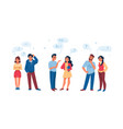 talking people men and women communication vector image vector image