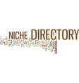 the power of a niche directory text background vector image vector image