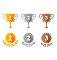 Trophy Cup and Award Medals Icons vector image vector image
