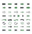 varieties arrows set variety black green vector image vector image