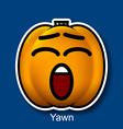 Yawn vector image