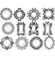 Set of Vintage Retro Round frames vector image