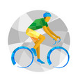 road cycling with abstract patterns vector image