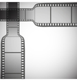 transparent film strip on gray background vector image