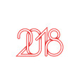 2018 red plexus of numbers for happy new year vector image