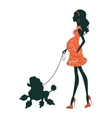a Beautiful woman silhouette with vector image vector image