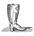 a covering for foot and leg vintage engraving vector image vector image