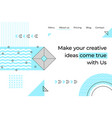 abstract landing page minimal geometry memphis vector image vector image