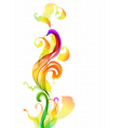 Abstratc floral wave vector image vector image