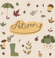 Autumn objects Seasonal objects vector image vector image