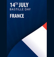 bastille day of france flag and patriotic banner vector image