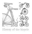 bicycle evolution set vector image vector image