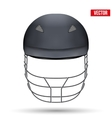 Black Cricket Helmet Front View vector image vector image