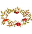 Border from autumn leaves and rowan EPS10 vector image vector image
