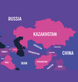 central asia map high detailed political map of vector image vector image